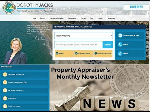PBC Property Appraiser's Office - PAPA Website Redesign - MyPAPA feature