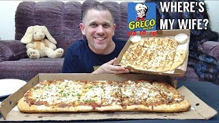 GRECO PARTY PIZZA MUKBANG *WHERE'S MY WIFE - STORYTIME*
