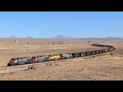 TRAINS on Parade!  Trona goes up and back in the desert!