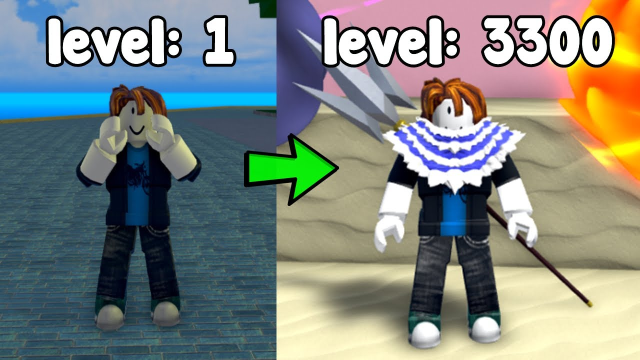 Starting Over As A Noob And Reached Max Level 3300! - King Legacy Roblox
