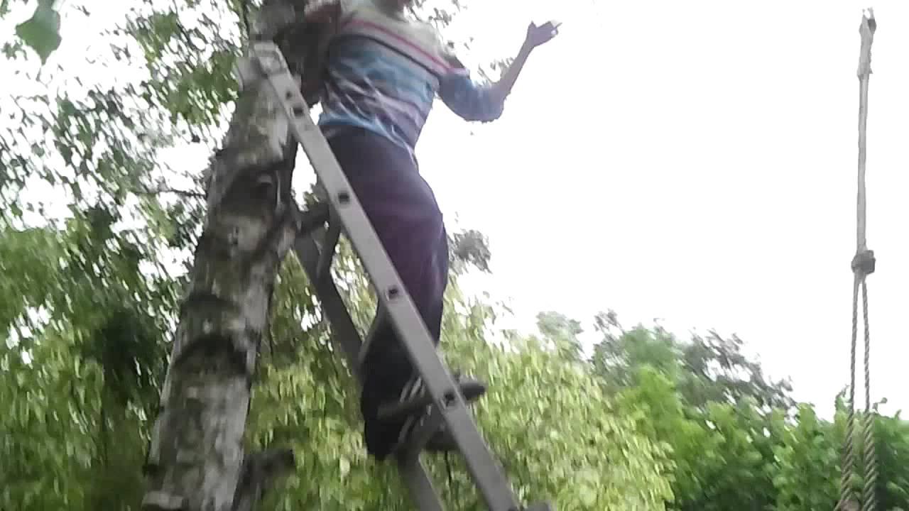 selbst gebaute seilbahn uur geil - youtube