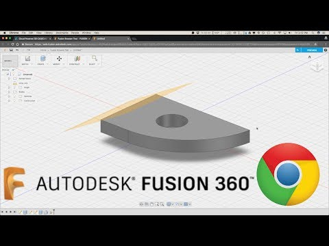 Fusion 360 in Google Chrome Browser! First Test!