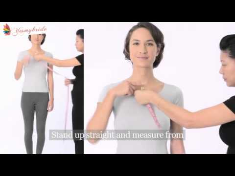 How to get the right measurement-YesMyBride-custom made wedding ...