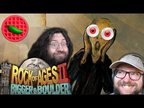 STREAMING AND ROLLING! -- Rock of Ages 2: Bigger & Boulder (Local Co-op Multiplayer STREAM)