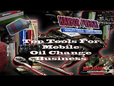 Harbor Freight Tool Haul Mobile Oil Change Business