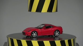 Mẹo TV - Thử Dùng Máy Nén Thủy Lực 100 Tấn Ép Siêu Xe Ferrari