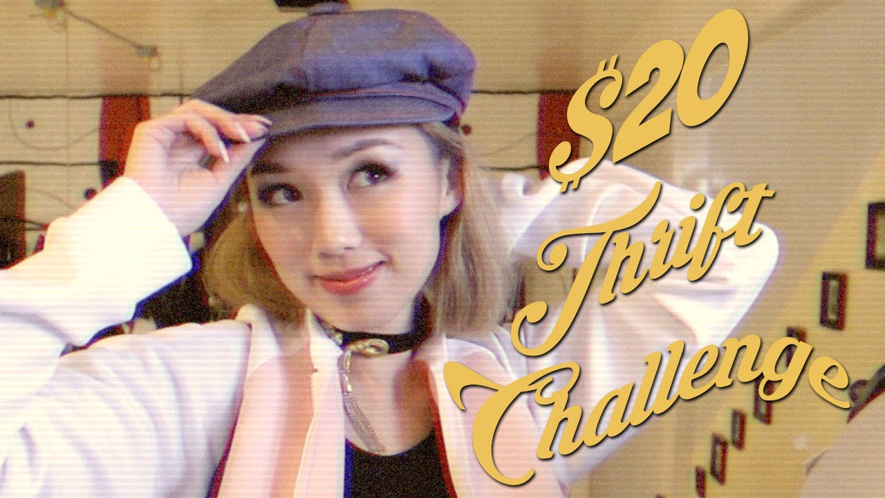 $20 THRIFT CHALLENGE! | 80s & 90s Inspired Outfit