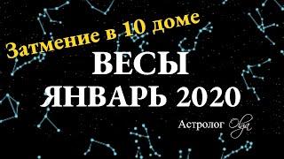 ВЕСЫ ГОРОСКОП на ЯНВАРЬ 2020. Астролог Olga