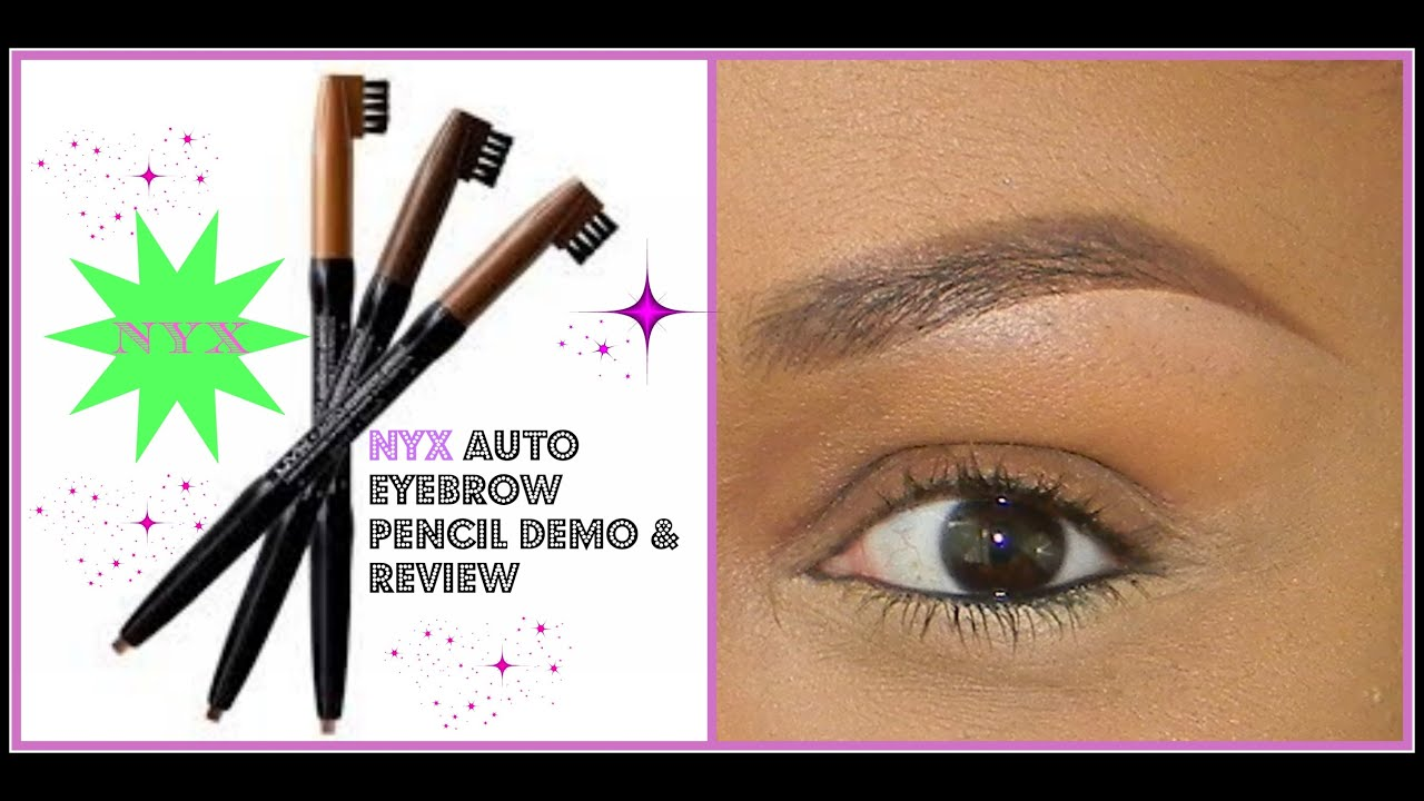 Nyx Auto Eyebrow Pencil Demo Review Perfect Brows Tutorial Youtube