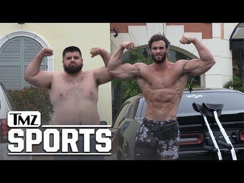 Bodybuilding Champ Calum Von Moger in Pec Flex Contest with TMZ Photog