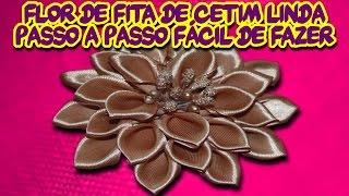 0:01 / 5:03 Flor de Fita de Cetim Linda Passo a Passo