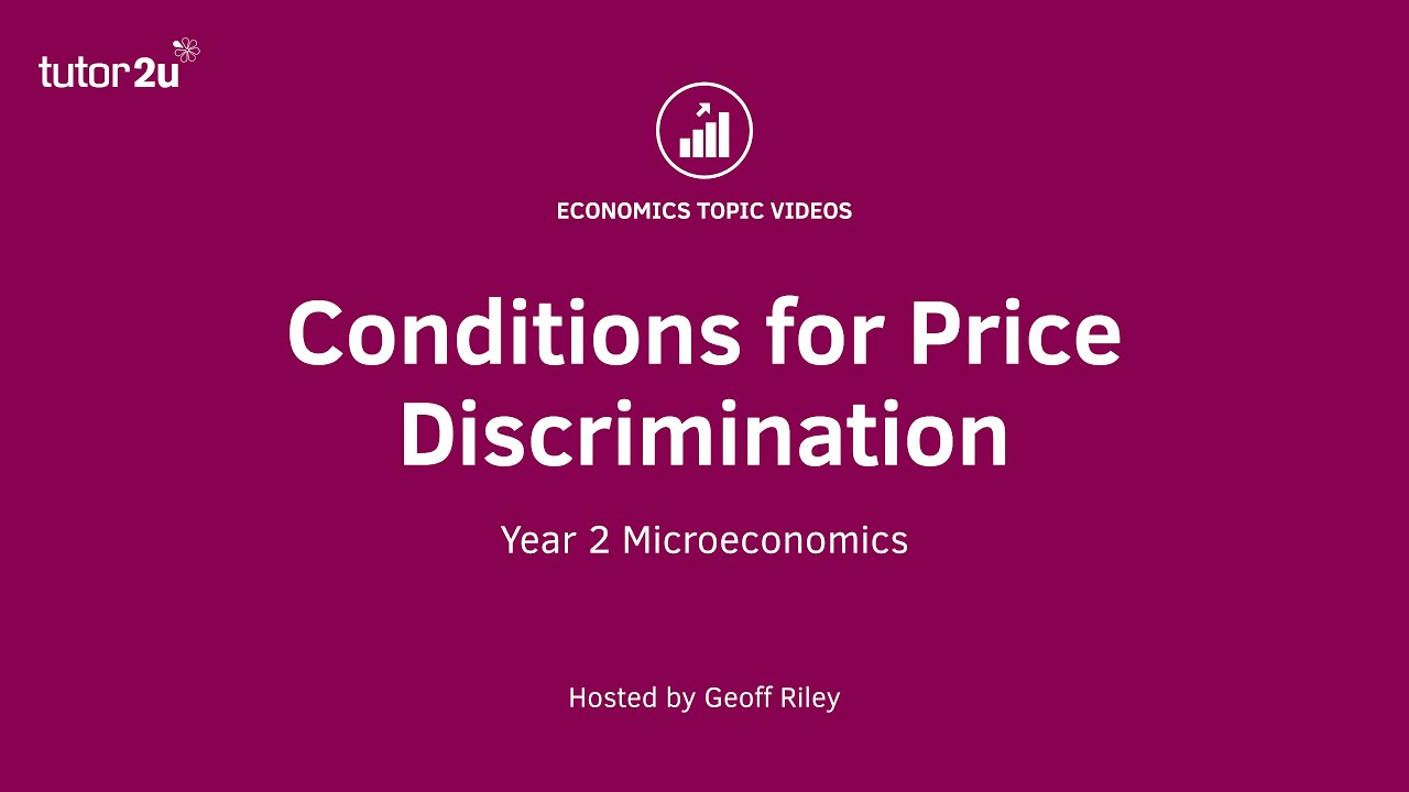 the three conditions of price discrimination Price discrimination price discrimination is the practice of charging a different price for the same good or service there are three types of price discrimination - first-degree, second-degree, and third-degree price discrimination.
