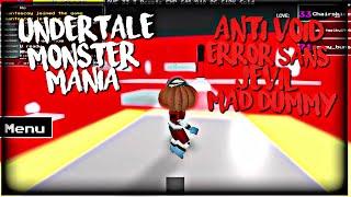 ROBLOX Undertale Monster Mania: Anti Void, Error Sans, Jevil, Mad Dummy