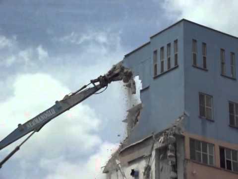 Demolition of old factory building