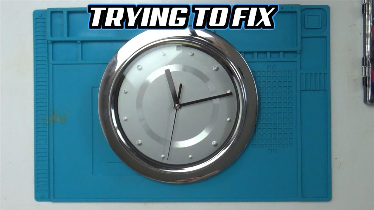 Trying to FIX a DROPPED KITCHEN CLOCK