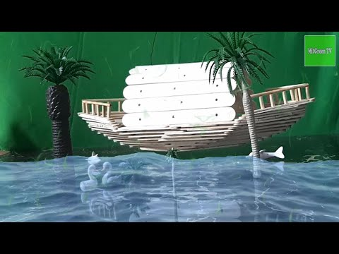 DIY A BOAT |  How To Make A Boat With Ice Cream Sticks