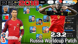 PES 2018 Mobile V 2.3.2 Worldcup Russia Graphic Patch (New Faces,Fully Licensed,International Teams)