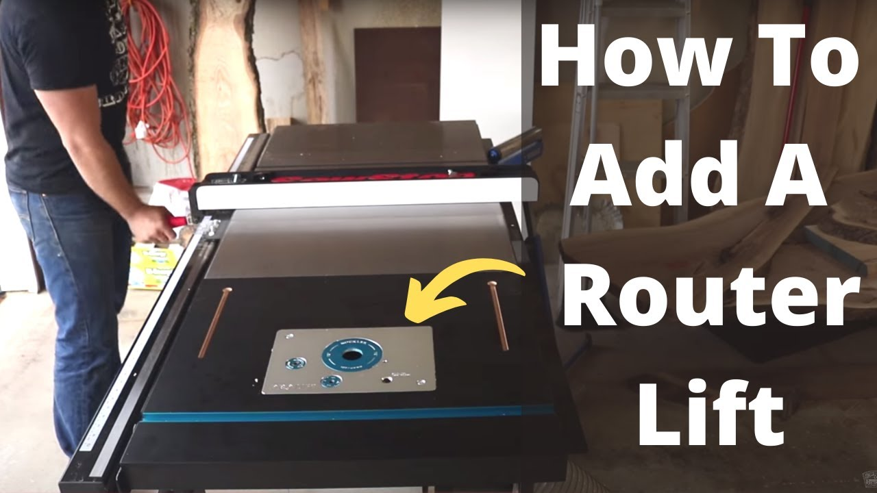 Adding a router lift to table saw extension wing diy router table adding a router lift to table saw extension wing diy router table rockler pro lift keyboard keysfo Images