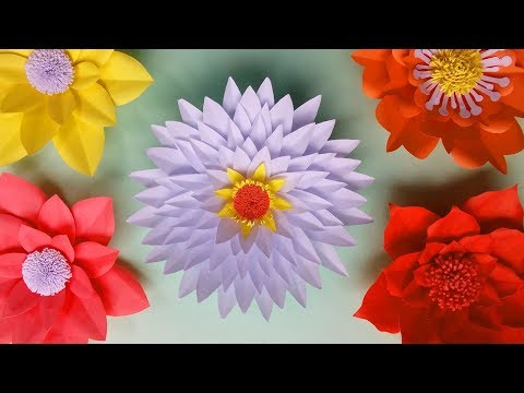How to Make Paper Flower Wall Hanging - Easy Wall Decoration Ideas for Home