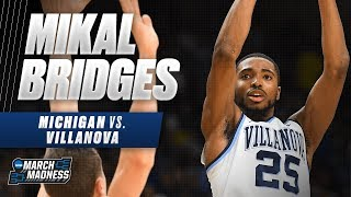 Villanova's Mikal Bridges scores 19 points to push the Wildcats' to win the National Championsh
