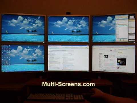 SUPER PC™ Six LCD Multiple Monitor Desktop  Display Multi - multi screen display