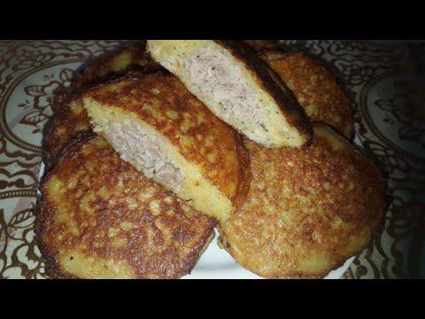 Белорусский рецепт,драники с мясом