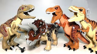 7 NEW LEGO CUSTOM JURASSIC WORLD DINOSAUR TOYS for kids - Indoraptor Indominus T-Rex