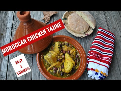 Classic Moroccan Chicken Tagine with olives and preserved lemons | Slow Cooked Chicken recipe