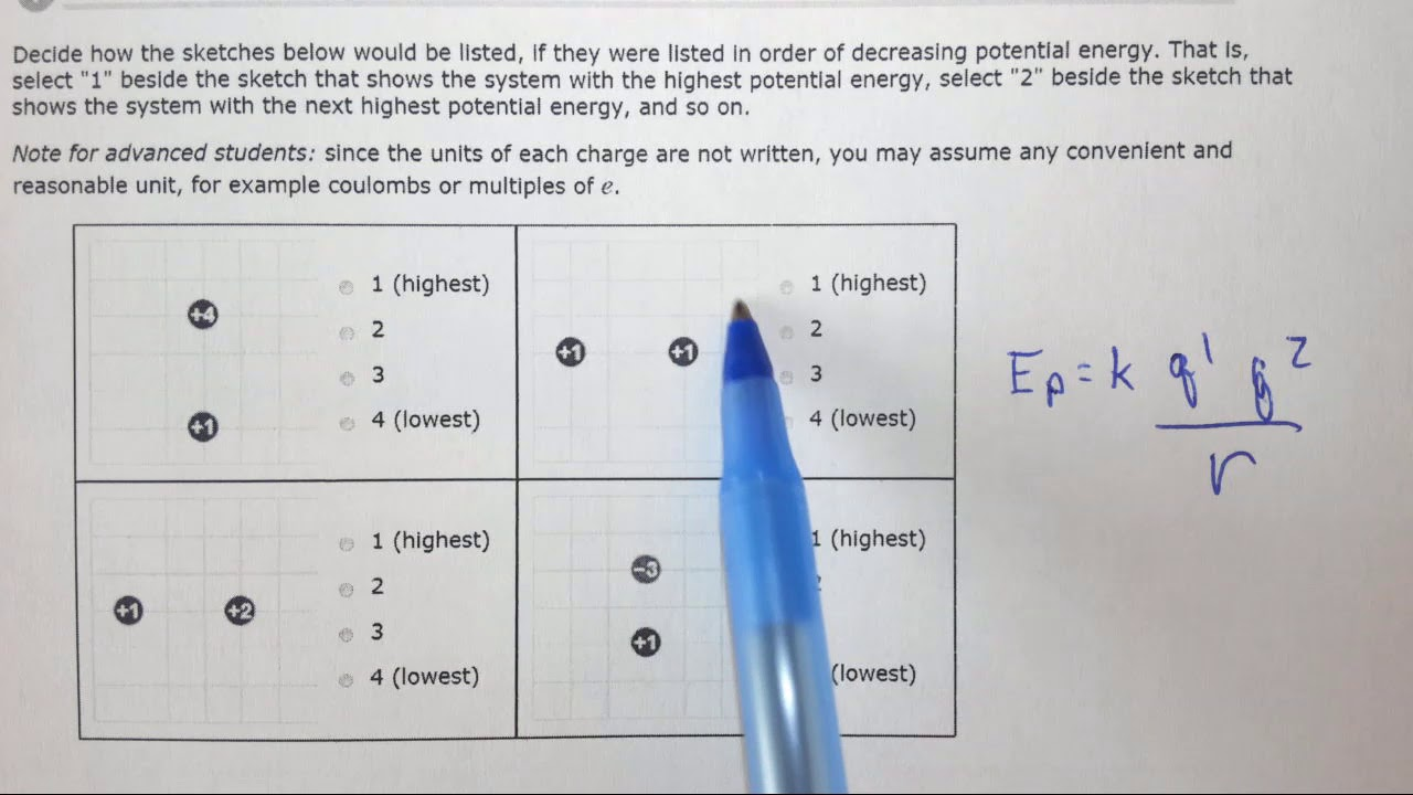 1 6e Understanding How Electrostatic Energy Scales With Charge And Separation
