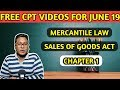 FREE CPT VIDEOS | LAW | Sales of Goods Act Chapter -1