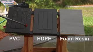 HDPE vs. PVC vs. Foam Resin Power Wash Test