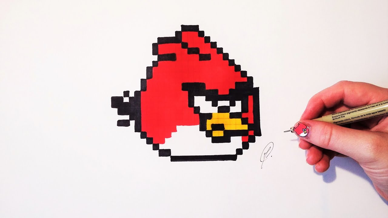 Angry Bird Easy Drawing Pixel Art