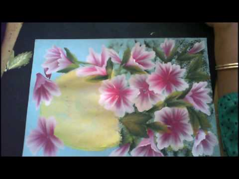 One Stroke Painting Tutorial- Floral Composition