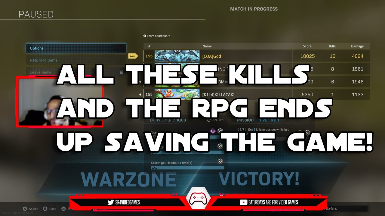 ALL THESE KILLS AND THE RPG ENDS UP SAVING THE GAME! (MODERNWARE WARZONE)