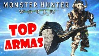 Monster Hunter World: TOP 5 ARMAS PARA PRINCIPIANTES (con Franky Quests)