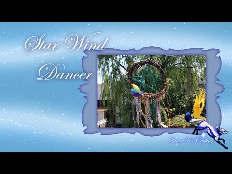 A Star Ribbon Wind Dancer for the Garden