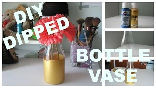 DIY Dipped Bottle Vase