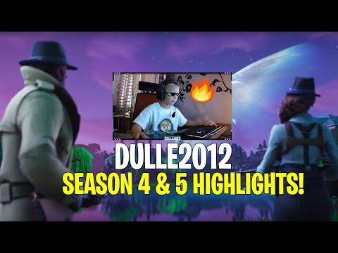Dulle2012 - Säsong 4 & 5 Gameplay Highlights // 6 year old gamer // Fortnite Battle Royale