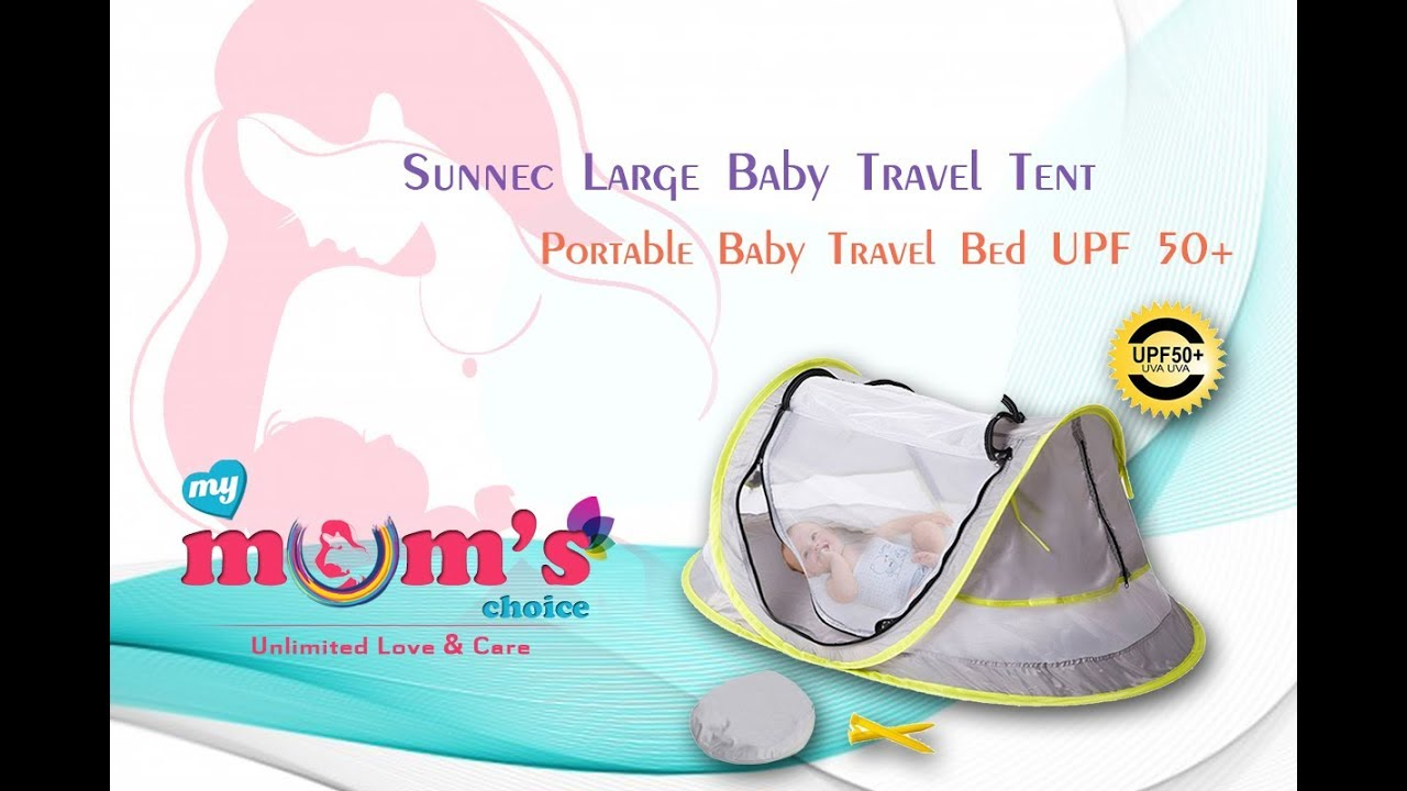 Sunnec Large Baby Travel Tent| Portable Baby Travel Bed|Folding Beach Tent Mosquito Net|Mymumschoice  sc 1 st  YouTube & Sunnec Large Baby Travel Tent| Portable Baby Travel Bed|Folding ...