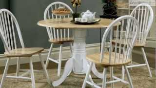 Damen Natural White Dropleaf Dining Room Collection From Coaster Furniture