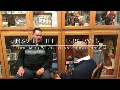 HSPN SPORT WEST DAVID HILL; Interview with Dennis McCuistion Orange High Principal