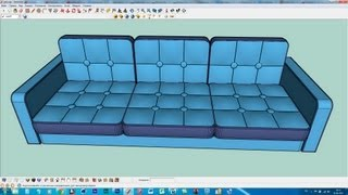 Как сделать диван/How to make a sofa in SketchUP part1