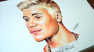 Drawing Justin Bieber (Dibujando a Justin Bieber)