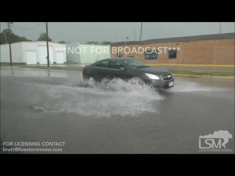 6-29-17 West Point , Nebraska Hail an Local Street Flooding