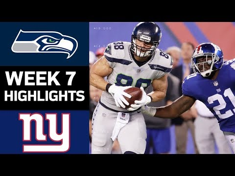 Seahawks vs. Giants | NFL Week 7 Game Highlights