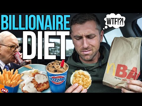 I Tried BILLIONAIRE Warren Buffett's Diet.... 8,000+ calories of FAST FOOD/ Junk Food