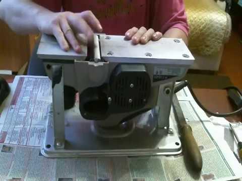 Электро рубанок Интерскол Р 110 01 выстовление ножей