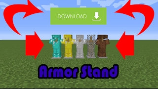 MCPE 1.1/0.18.0 Armor Stand Gameplay Concept + APK DOWNLOAD!
