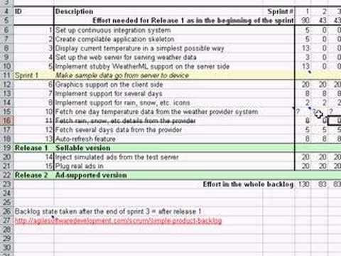 managing your scrum product backlog in a simple excel