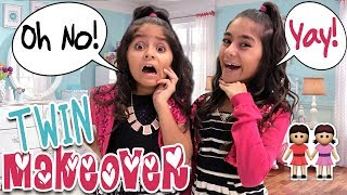 Makeover Twin Transformation - Sisters Style Twins Fashion : Mercedes World // GEM Sisters